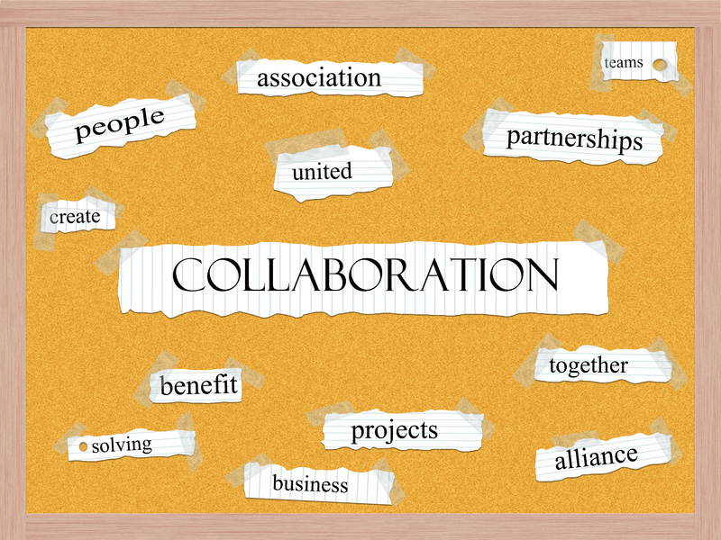 Collaboration Corkboard Word Concept with great terms such as association, united, teams and more.